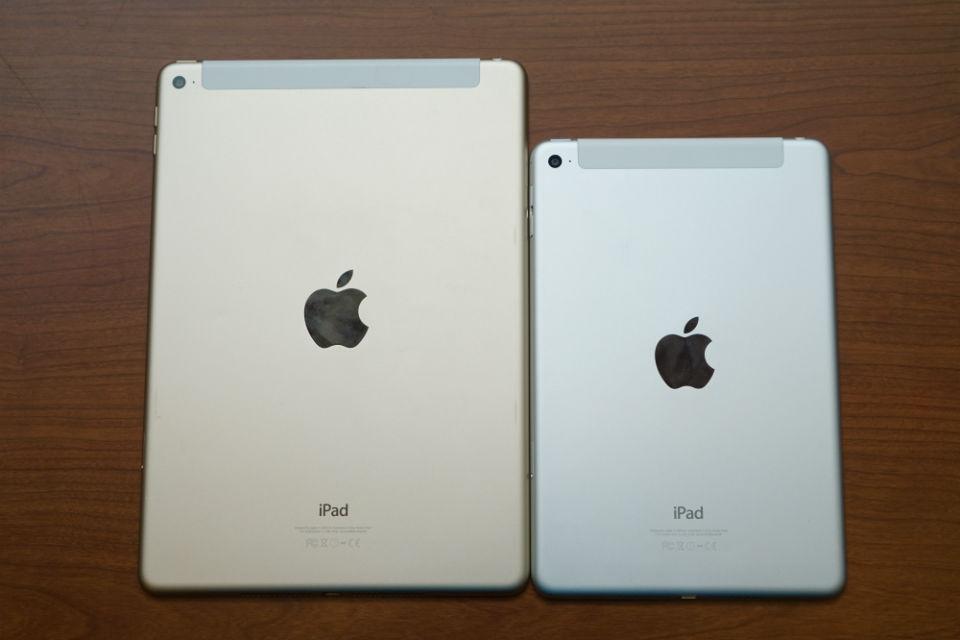 Perbandingan ukuran iPad dengan iPad Mini